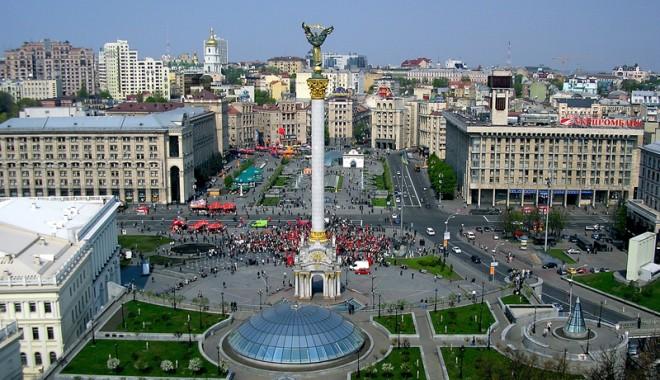 Foto: Participanţi la contramanifestaţia puterii la Kiev, plătiţi şi puţin entuziaşti