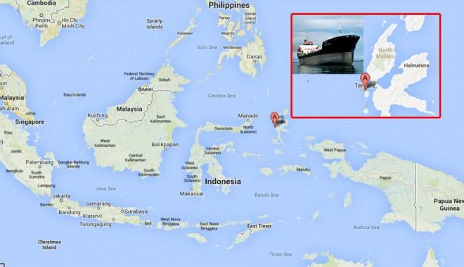 Foto: Un tanc petrolier s-a scufundat în Indonezia, cu 5.400 tone de combustibil la bord