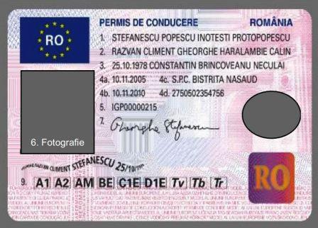 Foto: Cum va arăta permisul auto, din 2013