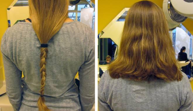 Foto: Peruci  din păr natural  pentru  femeile bolnave  de cancer