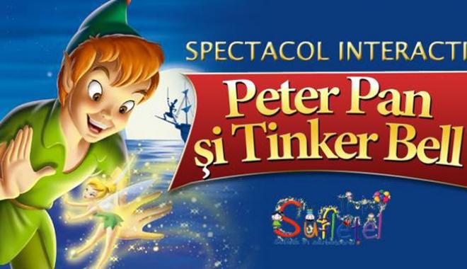 Foto: Peter Pan  şi Tinker Bell,  la Harlequin Mamaia