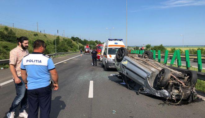 Foto: Trafic blocat pe Autostrada Soarelui. O persoană a murit într-un accident teribil