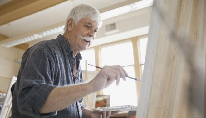 Foto: Pictorul şi doctorul său