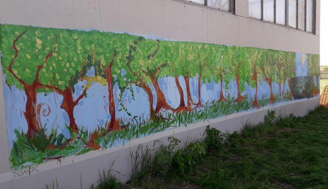 Foto: GALERIE FOTO / Zidul de la Delfinariu a fost pictat de copii