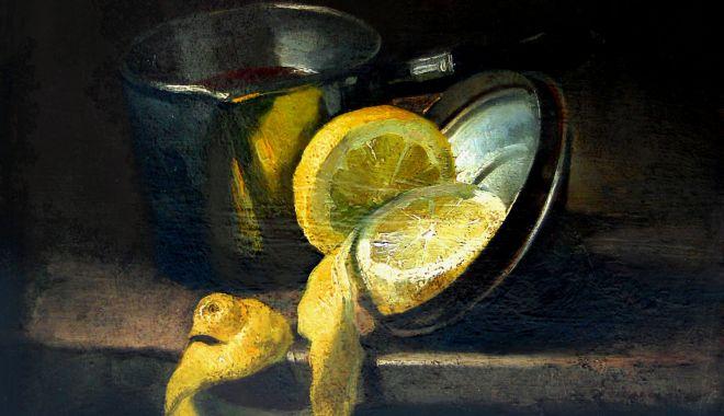 """""""Natura cu lămâi"""" a lui Grigorescu, moartă, dar fermecătoare - picturasursamuzeuldearta-1607707350.jpg"""