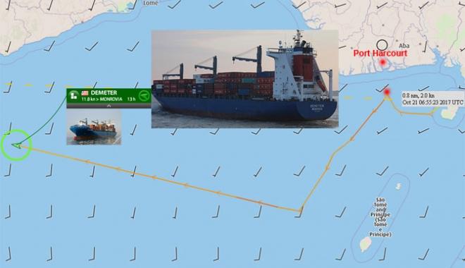 Foto: Piraţii nigerieni au răpit opt navigatori de pe o navă germană