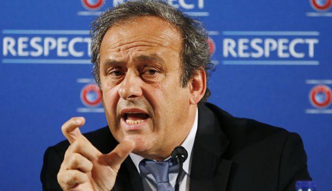 """Foto: Michel Platini, reţinut pentru audieri, în """"scandalul Qatar 2022"""""""
