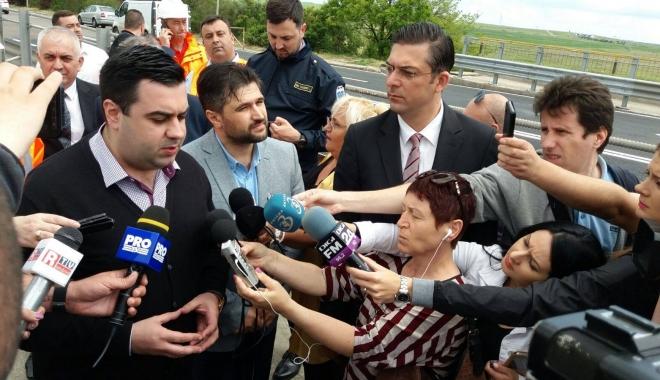 Foto: Galerie foto / Ministrul Transporturilor, în vizită pe Podul Agigea. Ce l-a nemulţumit pe Răzvan Cuc