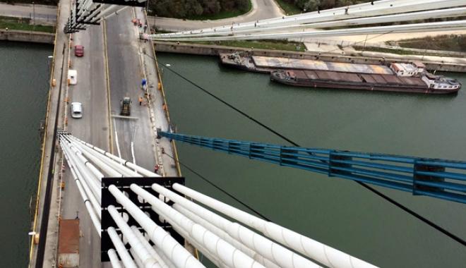 Foto: Veşti mari de pe podul Agigea! Din decembrie, se reia circulaţia