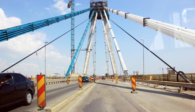 Foto: Pe 1 decembrie se va circula pe toate benzile Podului Agigea! Lucrările  vor continua şi la anul