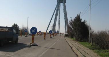 Foto: Atenţie, şoferi! Trafic dificil în zona podului Agigea