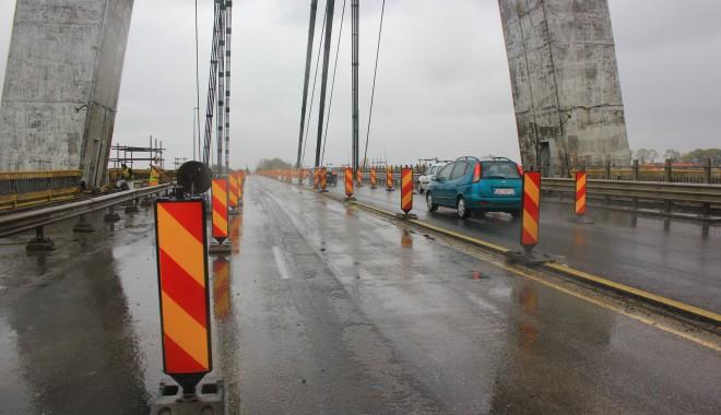 Foto: Restricţia de circulaţie pe podul de la Agigea a fost ridicată la 5 tone