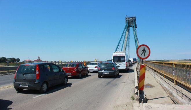 Foto: ATENȚIE ȘOFERI! Podul de la Agigea, închis trei nopți