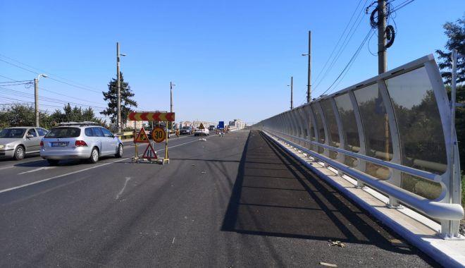 Foto: Podul de la Butelii, gata pe jumătate! De azi, se circulă pe banda reabilitată