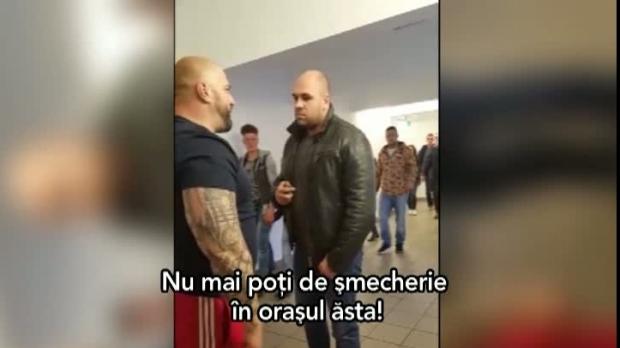 """Foto: SCANDAL LA MALL. Poliţist, ameninţat şi înjurat de un bodyguard: """"Eşti un gabor împuţit, aia eşti tu!"""""""