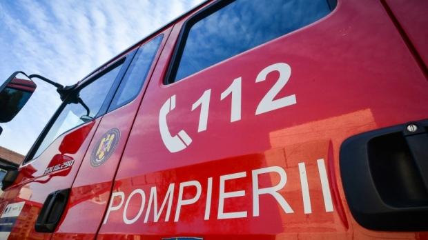 Foto: Incendiu la un autocar, în județul Constanța