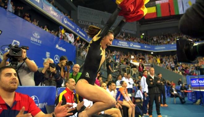 Foto: Gimnasta Cătălina Ponor, campioană europeană la bârnă