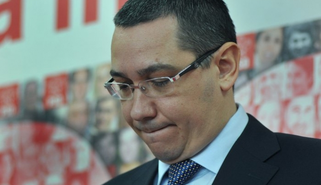 Foto: Ponta, supărat foc după căderea guvernului: