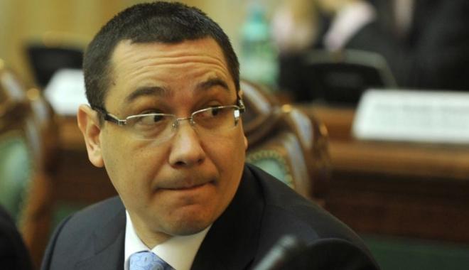 Foto: Ponta, reacţie la cald după ce Guvernul Grindeanu a picat