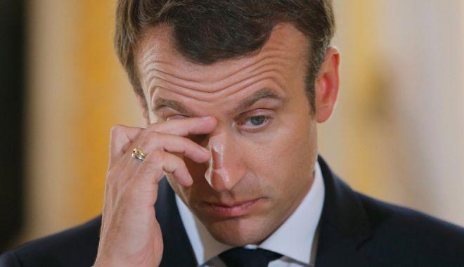 Foto: Popularitatea lui Macron a scăzut la un nou nivel minim, pe fondul protestelor