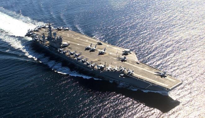 Foto: Portavioane de atac americane efectuează manevre în Pacific.  Se aşteaptă reacţia Coreei de Nord