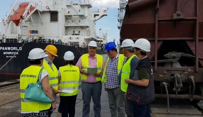 Foto: ITM. Controale în port, la operatorii de depozitare şi manipulare mărfuri