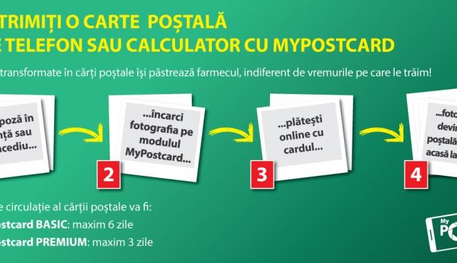 Foto: Poşta Română. Cărţi poştale personalizate direct de pe telefonul mobil