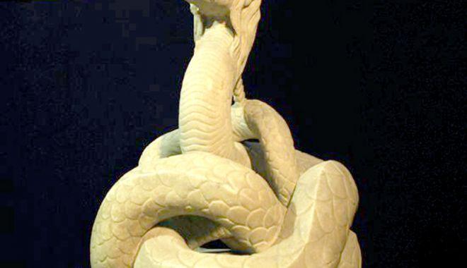 Foto: GALERIE FOTO / Povestea Şarpelui Glykon, statuie unică în lume