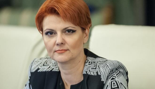 """Foto: Olguța Vasilescu: """"Legea salarizării se va aplica de la 1 iulie"""""""