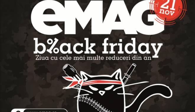 Foto: Black Friday la eMag. 10.000 de metri pătrați, plini cu produse la preţ redus
