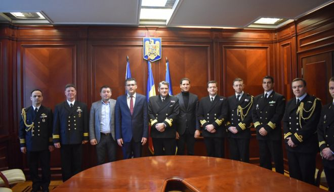Foto: Delegație NATO, vizită  la Prefectura Constanța