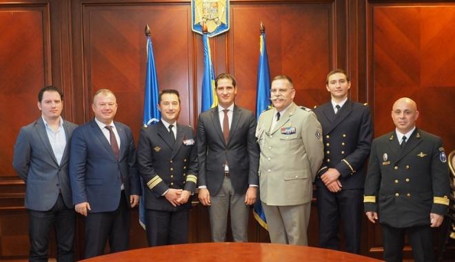 Foto: Delegaţie a Marinei Militare Franceze, în vizită la Prefectura Constanţa