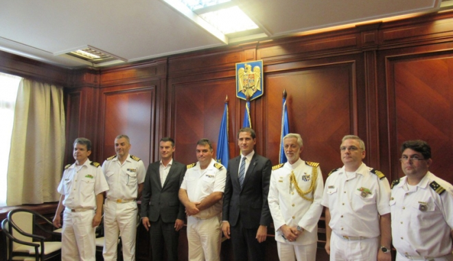Foto: Delegaţie din Grecia, vizită la Prefectura Constanţa