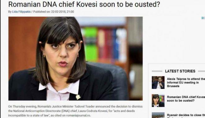 """Foto: """"Guvernul PSD vrea capul şefei DNA"""". Critici în presa străină după anunţul lui Toader"""