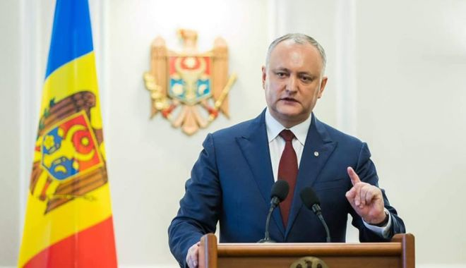 Foto: Preşedintele Republicii Moldova agită spectrul alegerilor anticipate