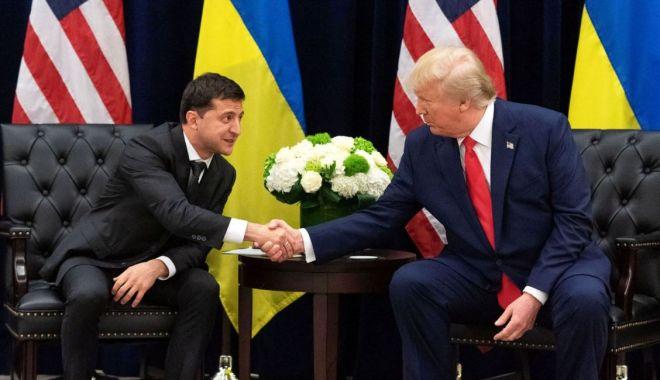 Foto: Președintele Ucrainei neagă orice fel de schimb de favoruri cu Donald Trump