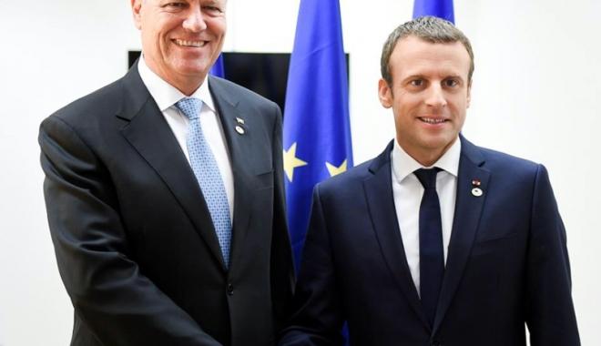 Foto: Preşedintele Franţei, în vizită în România
