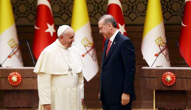 Foto: Președintele turc, primit de Papa Francisc