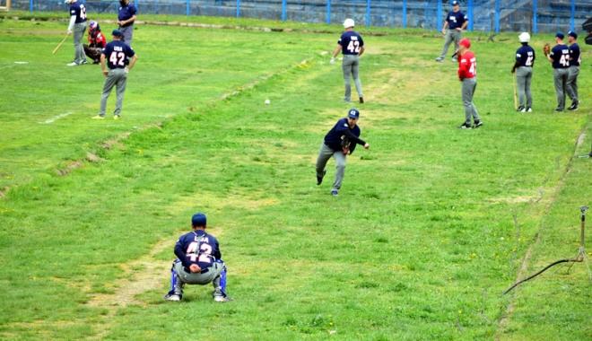 Foto: Show la meciul de baseball dintre tricolori  şi Marine Scouts USA