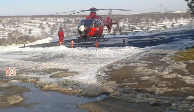 Foto: Prima intervenţie pe heliportul Spitalului din Cernavodă