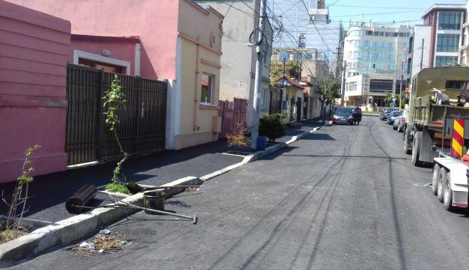 Foto: Primăria Constanța a reluat lucrările de asfaltare