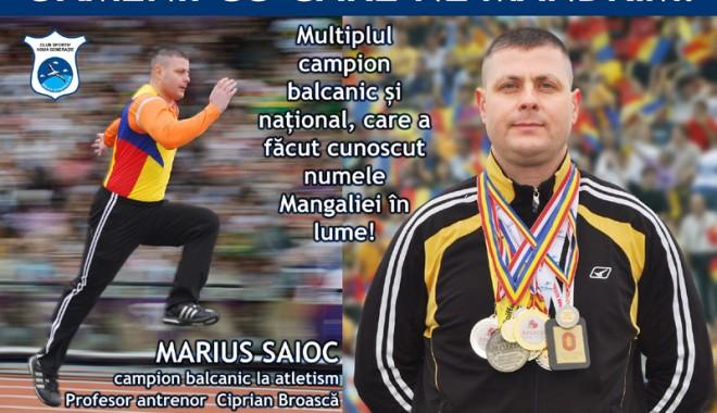 Foto: Marius Saioc, criminalistul care a performat la atletism