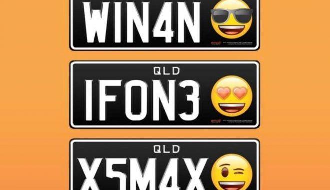 Foto: Primele numere de înmatriculare cu emoticonuri