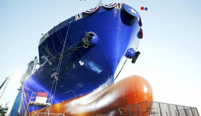 Foto: Primul portcontainer din lume propulsat cu LNG