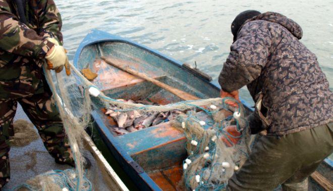 Foto: Prinşi de jandarmi în timp ce pescuiau ilegal