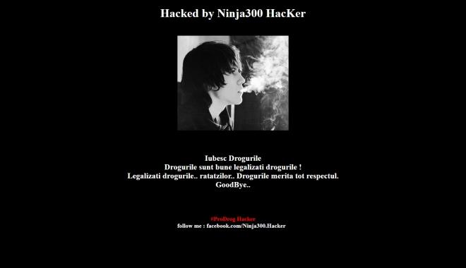 Foto: Site-ul Direcţiei de Sănătate Publică, hackuit de drogaţi