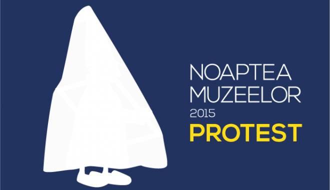Foto: Protest în Noaptea Muzeelor