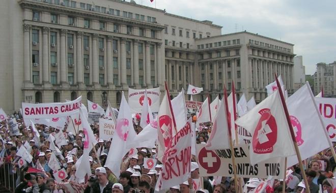 """Foto: """"E JAF, ÎNŞELĂTORIE. Vor să fure creşterea salarială"""". Se anunţă o nouă grevă în Sănătate"""
