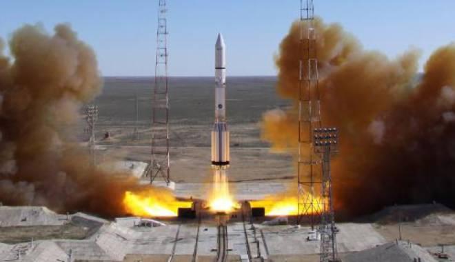 Foto: Eșec rusesc. O rachetă Proton M s-a prăbușit la câteva minute după lansare