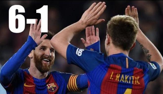 Foto: GEST CUTREMURĂTOR! UCIS după ce Barcelona a învins PSG cu 6-1